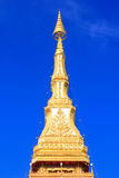 Premières reliques de temple de pagoda, étage neuf dans Khon Kaen Images stock
