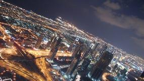 Premières vues à partir du dessus du Burj Khalifa Images libres de droits