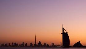 Premières vues à partir du dessus du Burj Khalifa Photo libre de droits