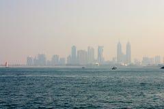 Premières vues à partir du dessus du Burj Khalifa Image stock