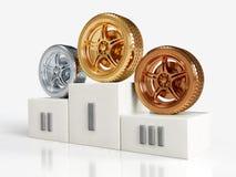 Premi della rotella dell'oro, dell'argento e del bronzo royalty illustrazione gratis