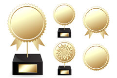 Premi dorati Fotografia Stock