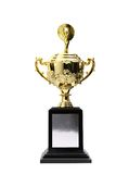 Premi dorati dei trofei Immagine Stock Libera da Diritti