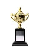 Premi dorati dei trofei Immagine Stock