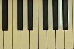 Premi i tasti del piano Fotografia Stock
