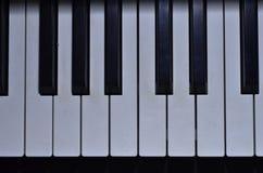 Premi i tasti del piano Fotografie Stock