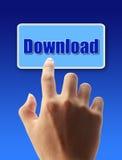 Premi il bottone di download Immagini Stock