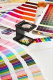 Premi la gestione di colore - produzione della stampa Fotografia Stock Libera da Diritti
