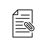 Premia dokumentu logo w kreskowym stylu lub ikona Fotografia Royalty Free