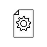 Premia dokumentu logo w kreskowym stylu lub ikona Zdjęcia Royalty Free