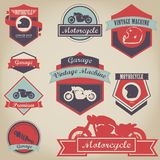 Premia motocyklu rocznika etykietka Obraz Royalty Free