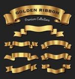 Premie gouden linten Stock Foto's