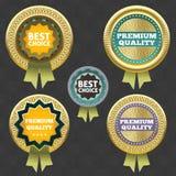 Premiekwaliteit en Beste keusetiket. Royalty-vrije Stock Foto's