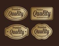 Premiekwaliteit gewaarborgd gouden retro ontwerp Royalty-vrije Stock Afbeelding