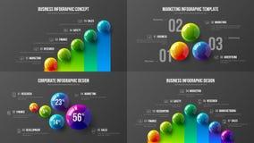Premiekwaliteit marketing vector de illustratiemalplaatje van de analyticspresentatie Creatieve het ontwerplay-out van de bedrijf stock illustratie