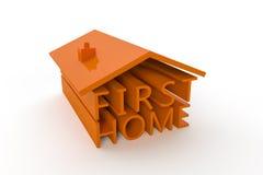 Premier à la maison Image libre de droits