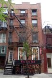 Premier appartement de New York de Chanteur-compositeur Bob Dylan dans le Greenwich Village Photos stock
