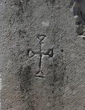 Premier Christian Cross Carving Photo stock