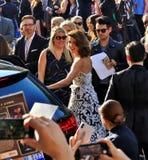Premier Cobie Smulders do homem-aranha imagens de stock royalty free