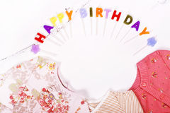 Premier concept de l'anniversaire du bébé Images stock