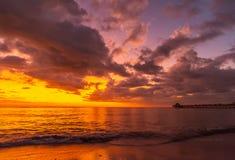 Premier coucher du soleil 2019 image libre de droits