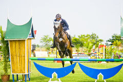 Premier Cup Equestrian Show Jumping Royalty Free Stock Photography