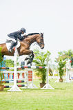 Premier Cup Equestrian Show Jumping Royalty Free Stock Images