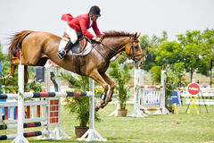 Premier Cup Equestrian Show Jumping Stock Images