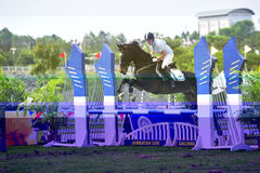 Premier Cup Equestrian Show Jumping Royalty Free Stock Image