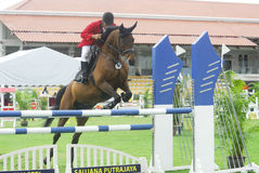 Premier Cup Equestrian Show Jumping. The Premier Cup 2009 from June 18-21, 2009 in Putrajaya, Malaysia. It is a horse show and competition in the two equestrian Stock Image