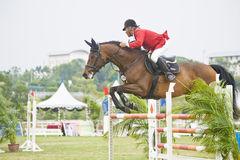 Premier Cup Equestrian Show Jumping. The Premier Cup 2009 from June 18-21, 2009 in Putrajaya, Malaysia. It is a horse show and competition in the two equestrian Stock Photography