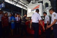A premier da viagem de trem expresso de Ambarawa Fotos de Stock Royalty Free
