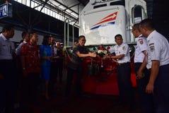 A premier da viagem de trem expresso de Ambarawa Imagem de Stock