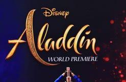 Premier de Aladdin no teatro do EL Capitan imagem de stock