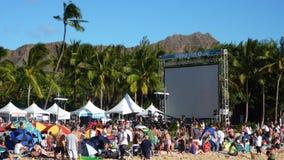 Premier de Hawaii Five-O en Waikiki Fotos de archivo libres de regalías