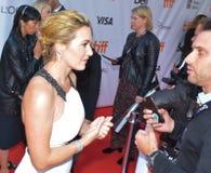 Premier de Kate Winslet 2017 do ` do ` uma montanha entre nós ` fotos de stock royalty free
