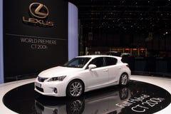 Premier de Lexus CT200h - demostración 2010 de motor de Ginebra Fotos de archivo libres de regalías