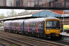 Premier dmu de Great Western Turbo dans la station d'Oxford Photos libres de droits