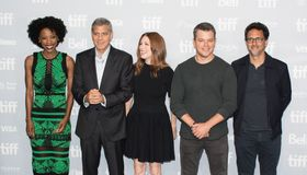 Premier do ` da redução do tamanho do ` de Matt Damon no festival de cinema internacional 2017 de Toronto foto de stock