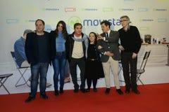 A premier do filme espanhol quem era Jorge Sanz? no Madri imagens de stock royalty free