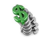Premier dollar Image libre de droits