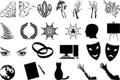 Premier ensemble de silhouettes Images libres de droits