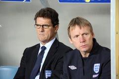 Premier entraîneur de l'Angleterre, Fabio Capello Photos libres de droits