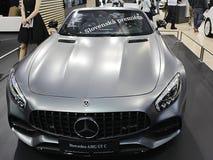 Premier eslovaca da barata de Mercedes AMG GT C em Autosalon Bratislava 2017 imagem de stock