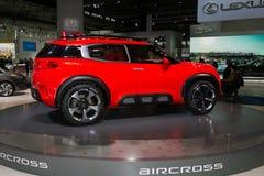 Premier europeia automobilístico do conceito de Citroen Aircross fotografia de stock