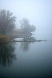 Premier gel - le fleuve Images libres de droits