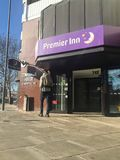 Premier Inn hotel. Premier Inn is a British hotel chain and the UK`s largest hotel brand, with more than 72,000 rooms and 785 hotels. It operates hotels in a royalty free stock images