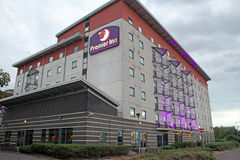 Premier inn hotel. Photo of the premier inn hotel chain located in london docklands showing 6 floor levels. photo taken 23rd july 2015 and ideal for hotel stock photos