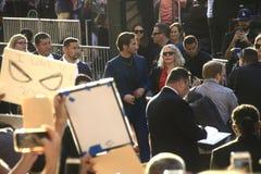 Premier Jake Gyllenhaal do homem-aranha fotografia de stock royalty free