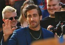 Premier Jake Gyllenhaal do homem-aranha fotos de stock